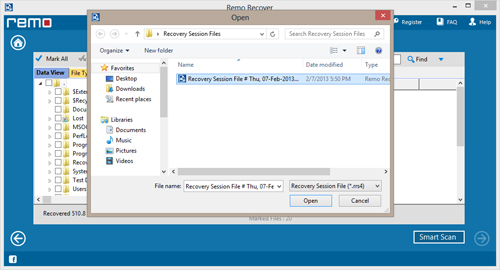 How to Recover Large Folder from Recycle Bin? - Save Recovery Session